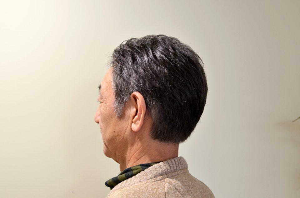 男のヘアマニキュア。